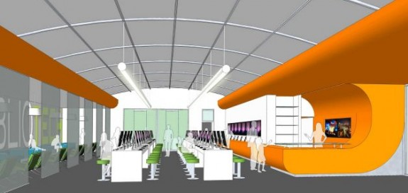 Conceptional Drawing Interior view of BiblioTech library. (Bexar County Commissioners Court)