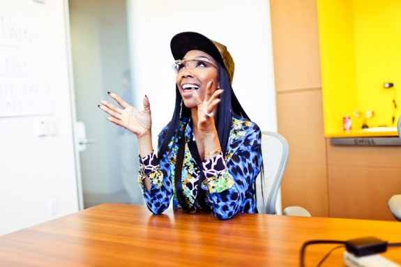 Brandy was spotted at Mountain View's Googleplex wearing them.